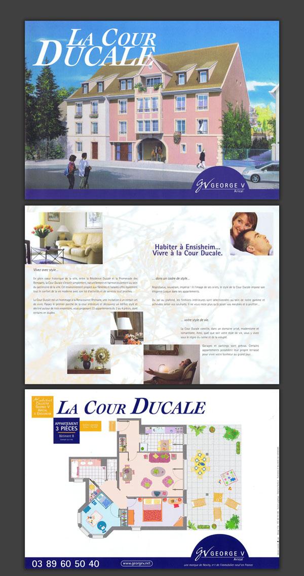 Brochures de présentation de lotissements.