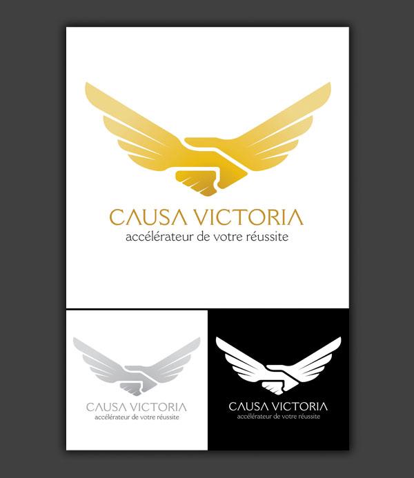 Logotype pour la société de coaching pour entrepreneurs, Causa Victoria.