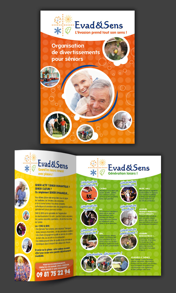 Mise en page d'une brochure.