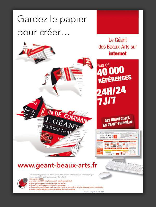 Charte graphique, annonces presse, catalogues, marketing direct.